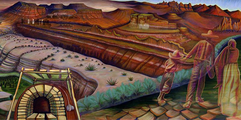 Memoria de nuestra tierra 2001 sparcinla for Dia mural artist