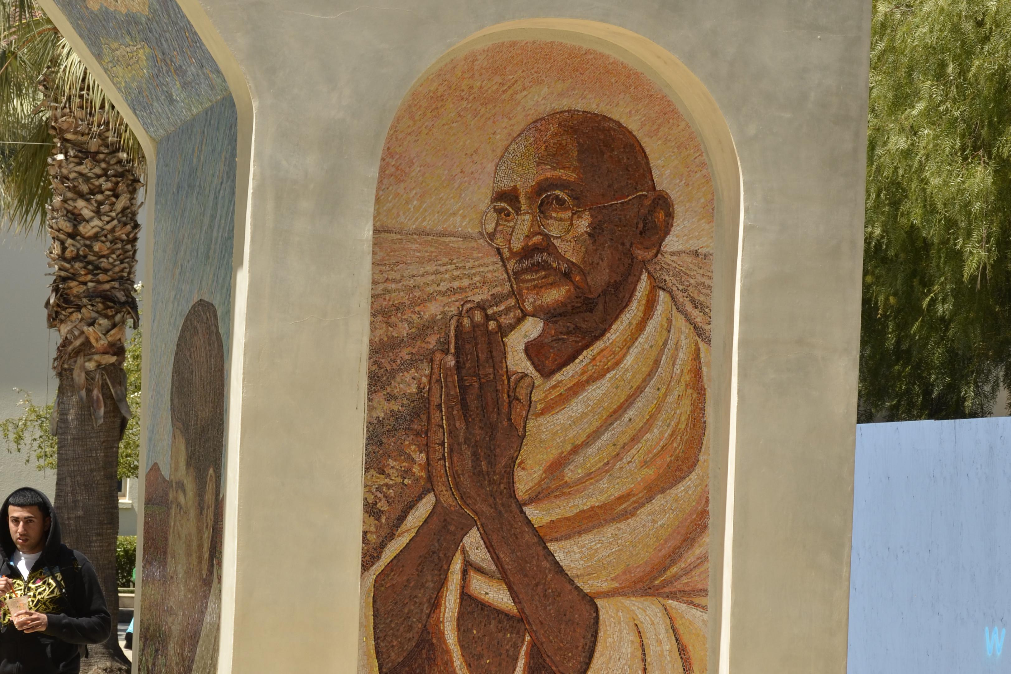 Ghandi Mural