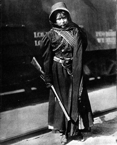 Las Adelitas: girl soldiers of the Mexican revolution; Adelita is now one of the most common girl's name in the Southwest.