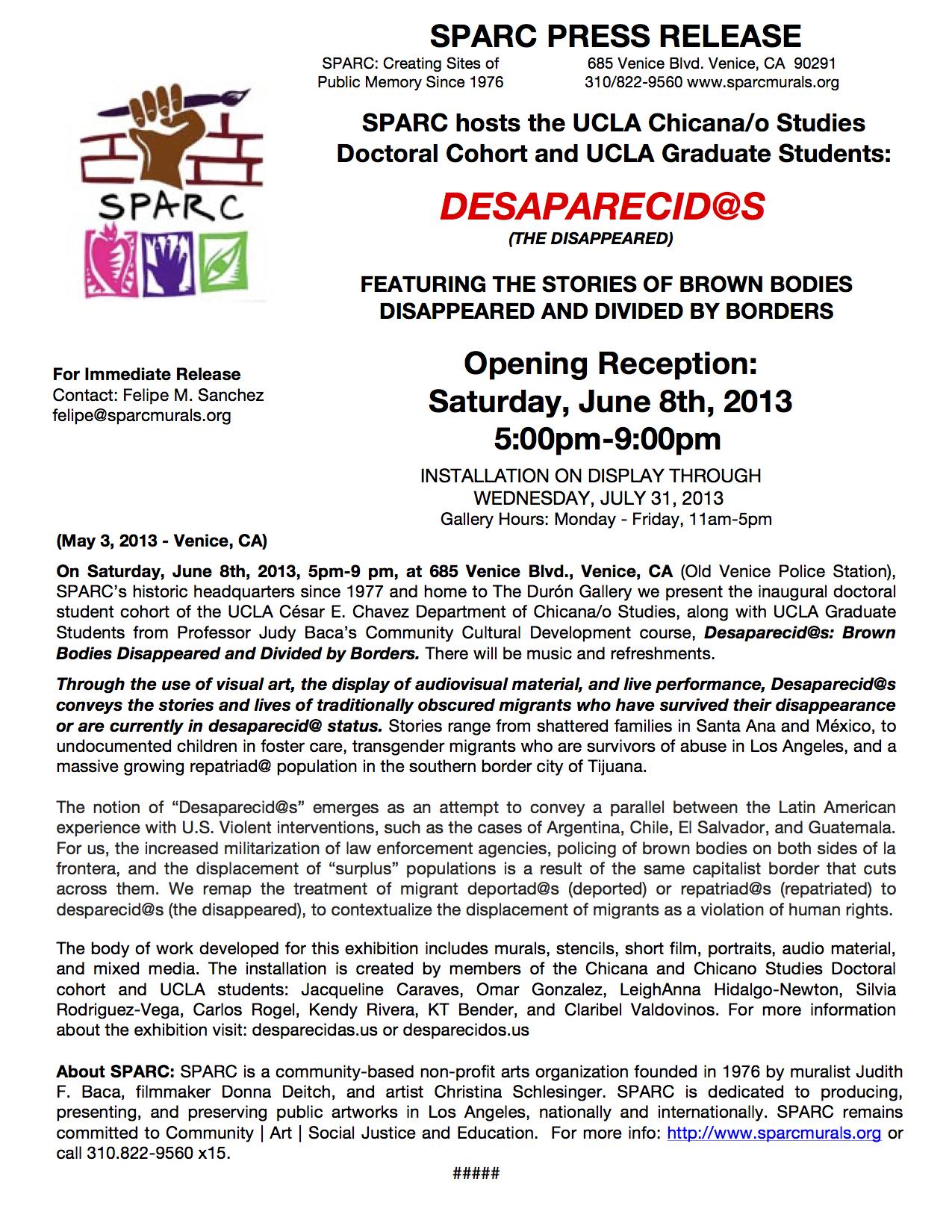 Desaparecidos Press Release_FINAL copy