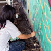 Hitting The Wall Mural Restoration 2013 6