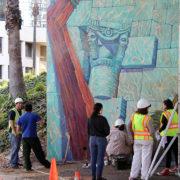 Hitting The Wall Mural Restoration 2013 7