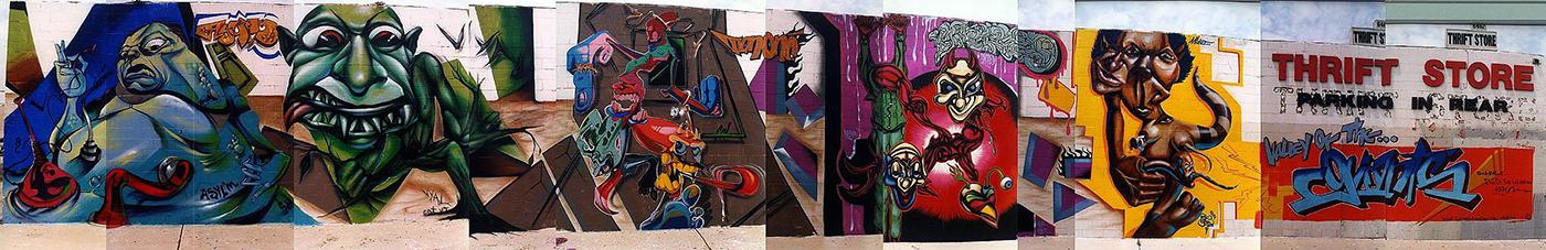 North Hollywood Graffiti Mural 03