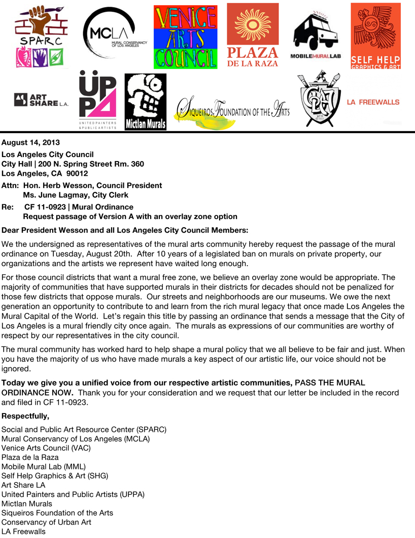 Unified Mural Ordinance Letter_FINAL