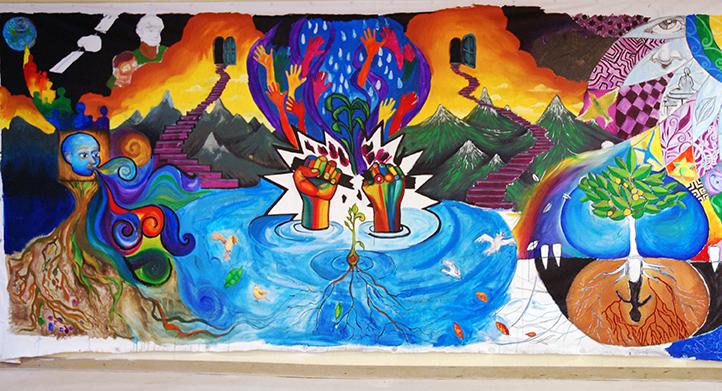 Judith Baca's Great Wall Mural, Los Angeles, CA