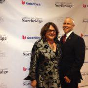 CSUN Award_ Judy With CSUN Art History Professor And Prior Personal Assistant Mario Ontiveros