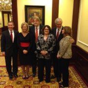 CSUN Awards_President _Mr. Gonzalez_Dianne Harrison_Paul Jennings_Judy_Donald Petrie_lady