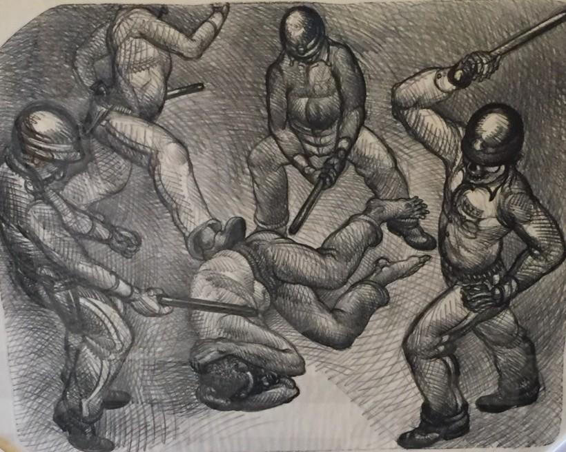 1992 Rodney King, Luis Jimenez, Lithograph