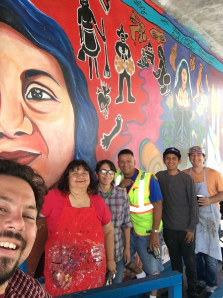 Yreina with the Citywide Mural Program Team.