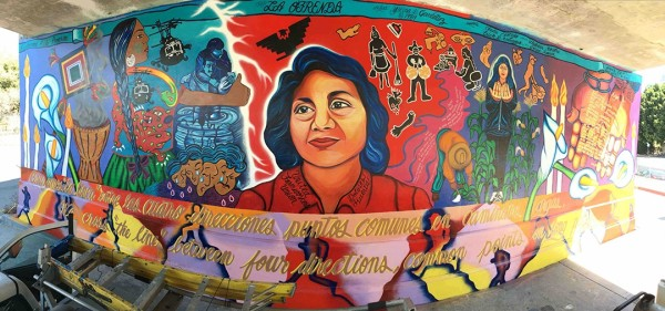 """La Ofrenda"" mural returns after 27 years! Final image after restoration."