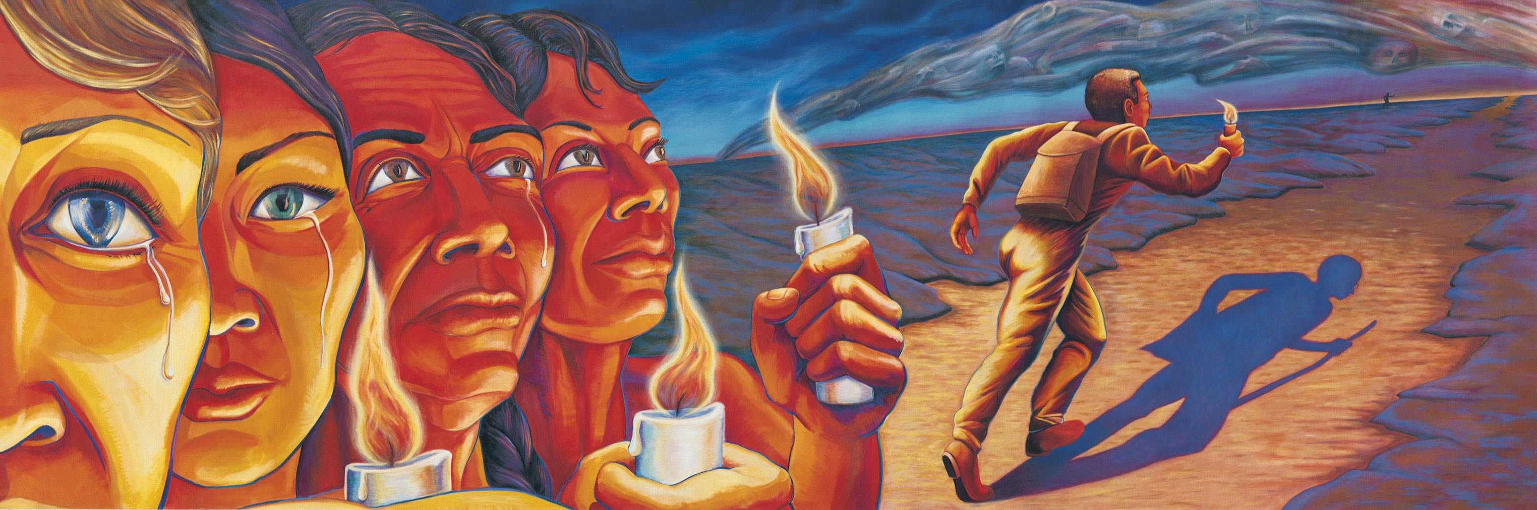 judy bacas murals Artist judy baca is known for her brilliantly colored urban murals, especially  great wall of los angeles, a dynamic depiction of california ethnic history that.
